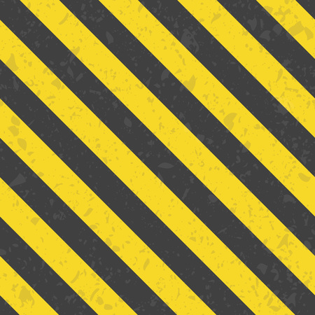 hazard stripes: Industrial striped seamless pattern. Black Orange destroyed diagonal lines template. Grunge striped cunstruction background vector illustration. Illustration