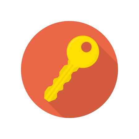 Key lock log in icon flat web sign symbol logo label Illustration