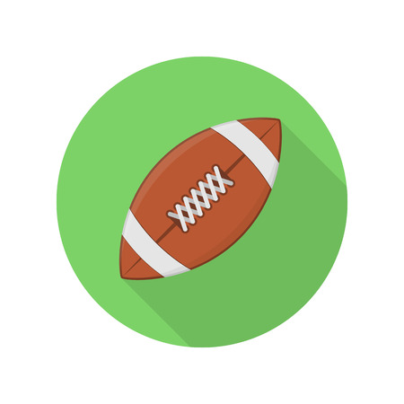 American football ball vector icon. Rugby Ball sign. Illustration