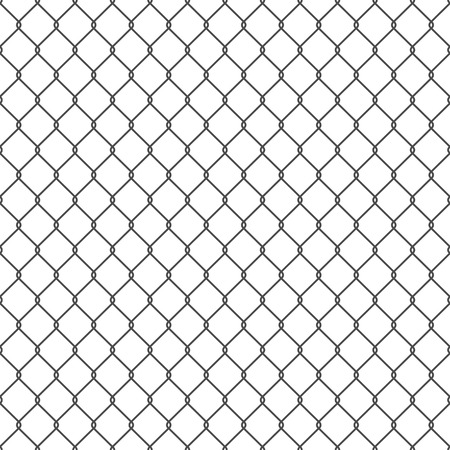 chain link fence: Vector seamless chain link fence background. EPS10.