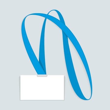 hang up: Id card mockup. Illustration