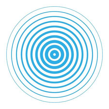écran radar des éléments de cercle concentriques. Vecteurs