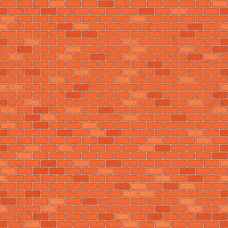 red wall: Seamless red brick wall.