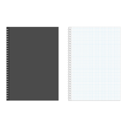 spiral notebook: Blank realistic spiral squared notebook.