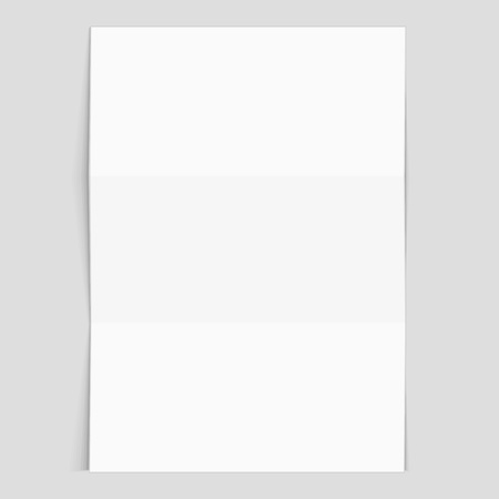 Realistic Blank Sheet Of Paper Mockup.  Blank Sheet Of Paper With Lines