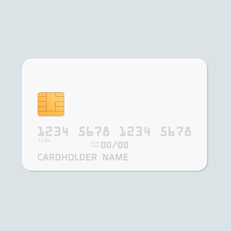 personal banking: Credit card realistic mockup. Illustration
