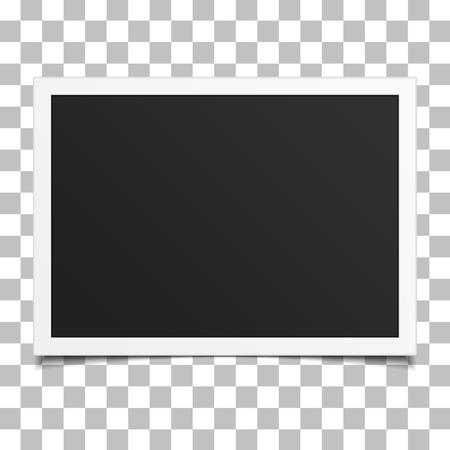 Retro photo frame with shadow. Stock Illustratie