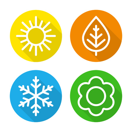 Set of icons  seasons. Çizim