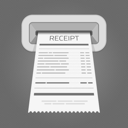 reciept: Sales printed receipt.