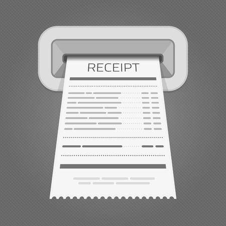 Sales printed receipt.