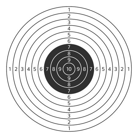 Shooting target vector icon.