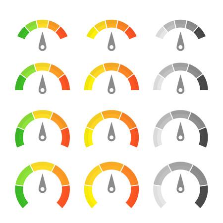 metering: Speed metering icon set.
