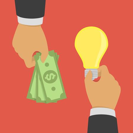 buying: Buying ideas concept. Illustration
