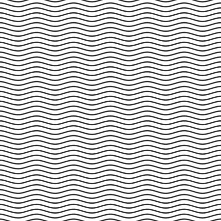 Black seamless wavy line pattern.