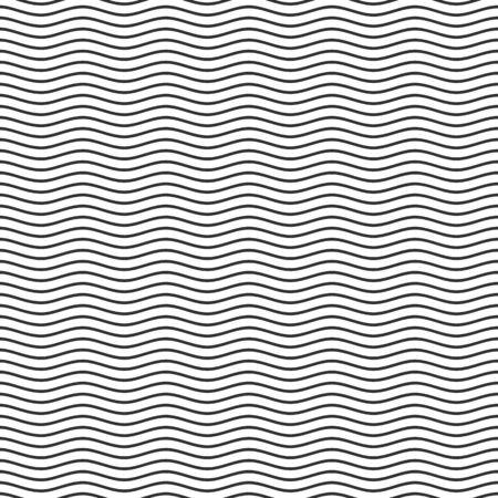 Czarna bezszwowa linia falista wzór.