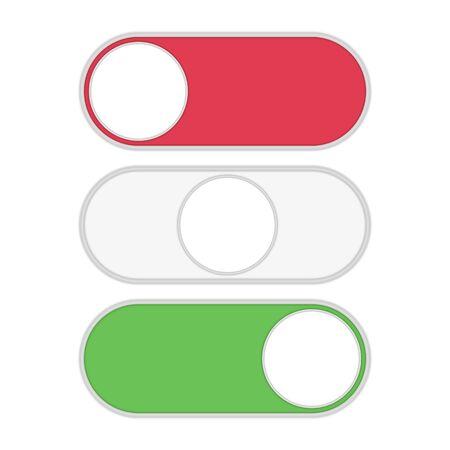 Toggle switch icon. Illustration