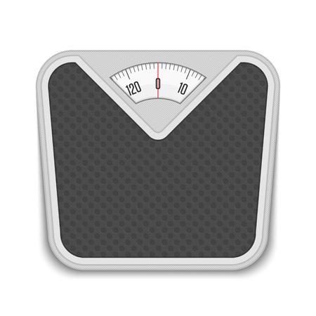 bathroom scale: Bathroom weight scale. Illustration