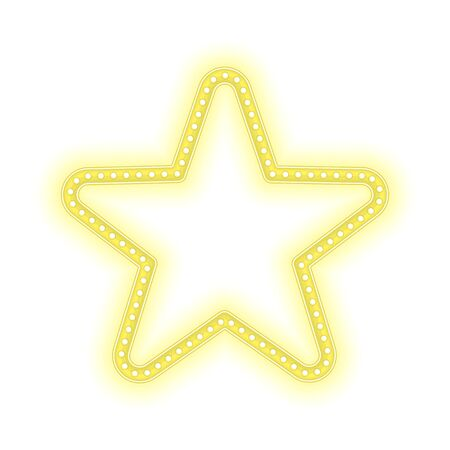 gold star: Gold star glowing retro banner.