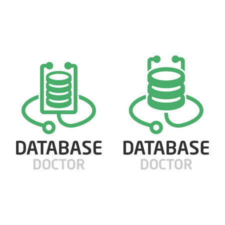 Database doctor logo. Фото со стока - 70974756