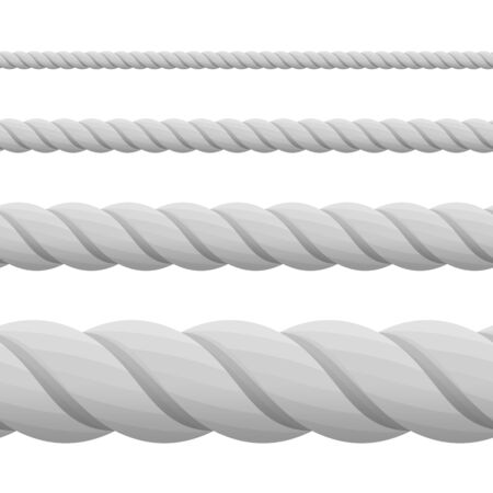 thickness: Different twine gray thickness rope.