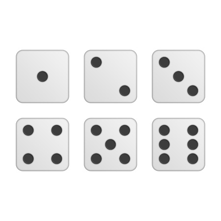 Dice vector icons.