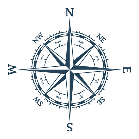 Wind rose vector.