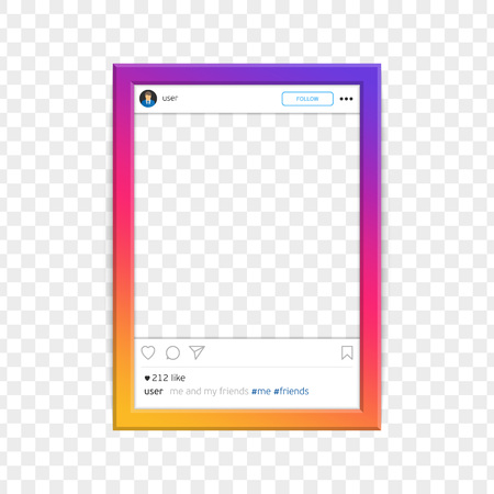 Modern social network photo frame vector.