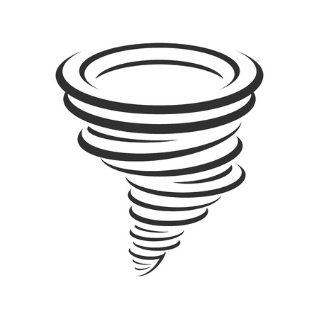 Tornadoes vector icon. Illustration