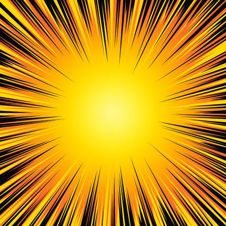 Colorful explosion illustration. Illustration