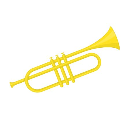 Brass trumpet icon. Illustration