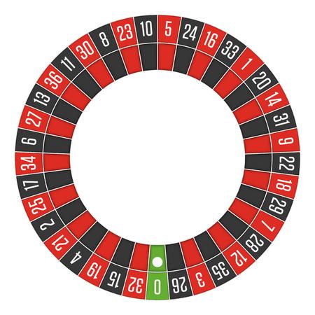 European roulette wheel. Illustration