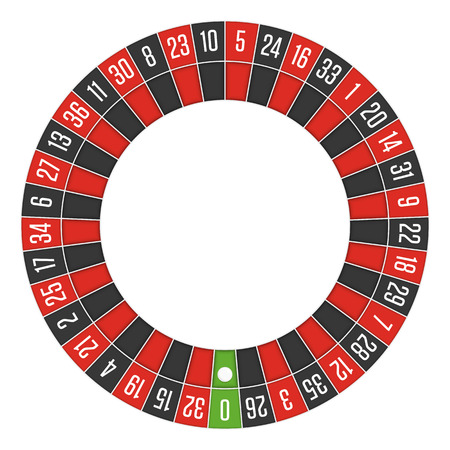 European roulette wheel. Vectores