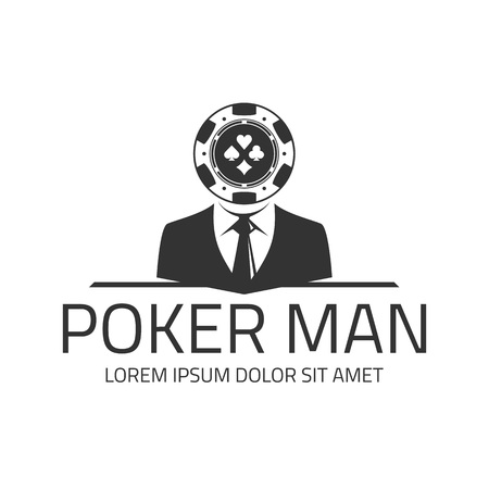 Poker logo template.