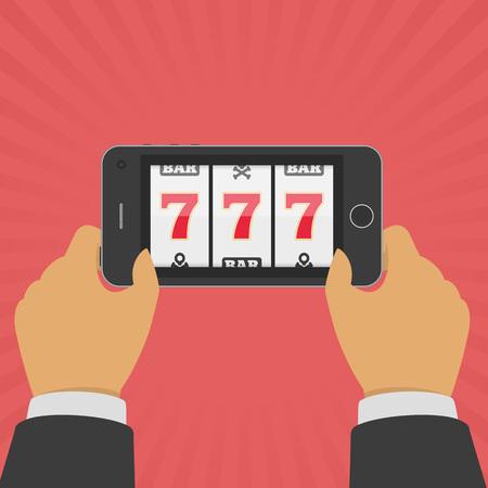 Online casino smartphone.