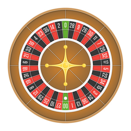 american roulette: American roulette wheel vector. Illustration