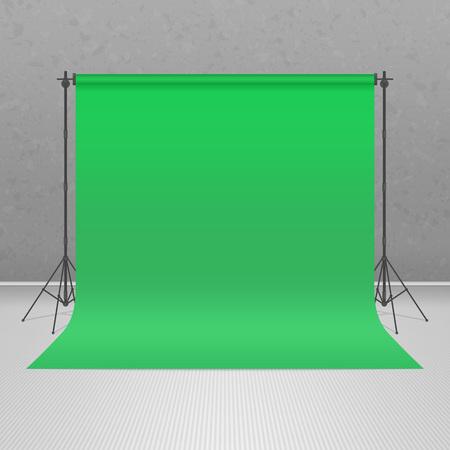 Empty green pattern studio. 版權商用圖片 - 76041192