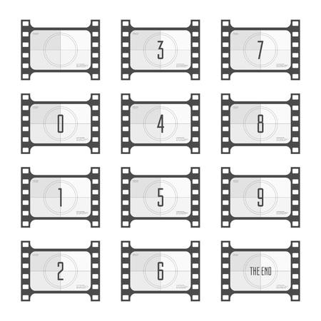Movie countdown numbers.