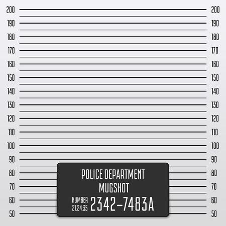 Sfondo di foto segnaletica di polizia. Archivio Fotografico - 92761603
