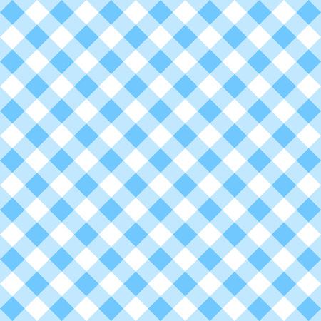 Blue gingham pattern.