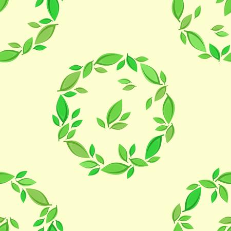 Green leaf background. Illustration