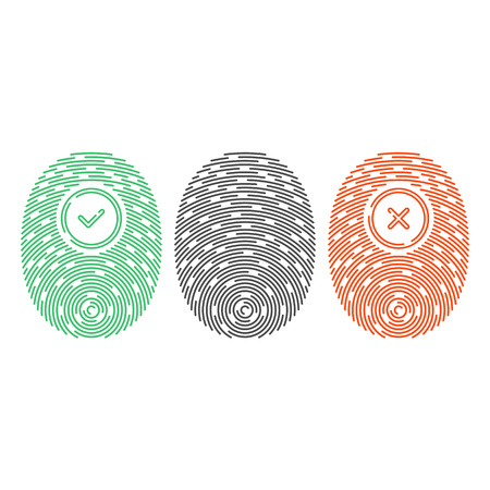 Fingerprint vector icon. Illustration