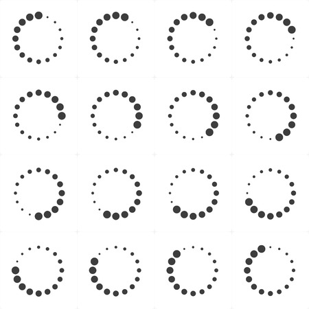 Loading or preloaders icon set.
