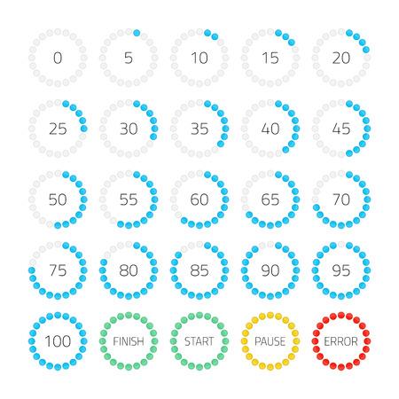 Dot round progress bar.