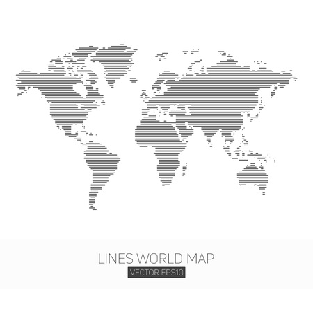 Lines world map.