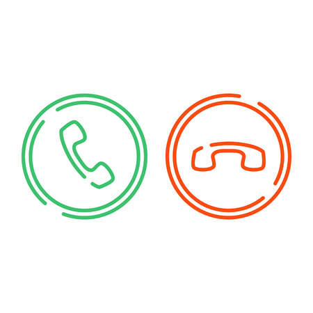 Phone call icons set. Illustration