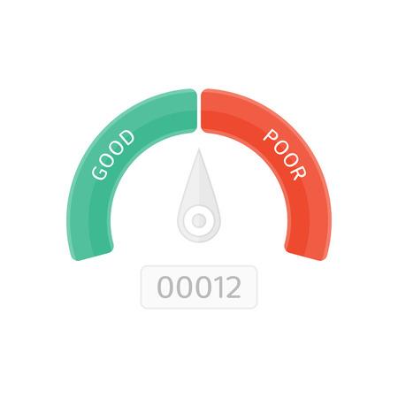 Vector credit score.