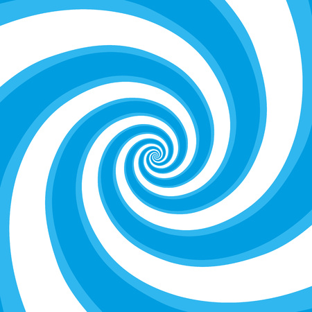 Blue hypnotic spiral background. Psychedelic Spiral Pattern. The concentric circles with hypnosis effect. Radial rays, twirl, twisted comic effect. Vector illustration EPS 10.