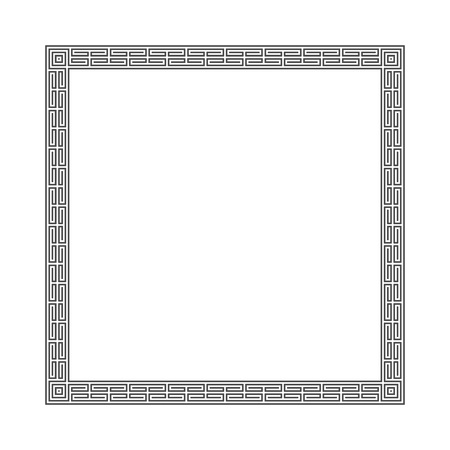 Vector greek frame.