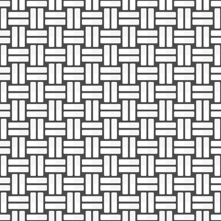 Braiding seamless background. Striped, abstract geometric pattern. Simple braided linear texture. Vector illustration EPS 10.