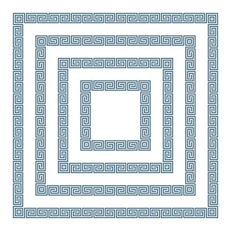 Greek frame set. Vector Illustration